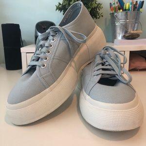 supergas Shoes | Light Blue Platform